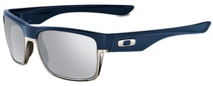 Oakley Oakley Rectangular Navy/Chrome Iridium OO9189-15 Sunglasses
