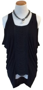 BCBGMAXAZRIA Front Panel Top Black