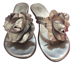SBICCA of California Dressy Designer Statement Pewter Sandals