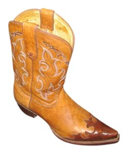 Tony Lama Cowboy Western Leather brown Boots