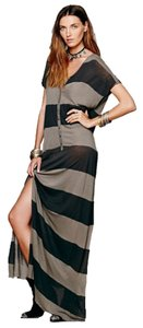 Olive and Black stripe Maxi Dress by Free People