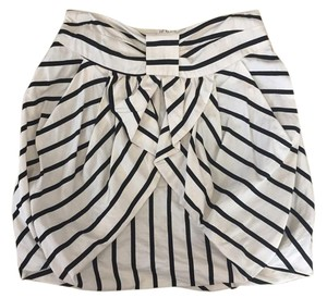 Anthropologie Mini Skirt Off-White/Black