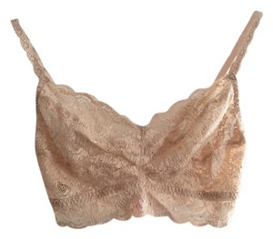 Cosabella Stretchy Lace Bralette Lingerie Nude Halter Top