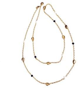 Tory Burch NEW Tory Burch Mikah Long Station Pearl Rosary Logo Necklace 22