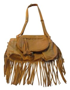 Free People Leather Light Brown Shoulder Bag