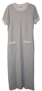 Gray Maxi Dress by Coldwater Creek Knit Relaxed Fit