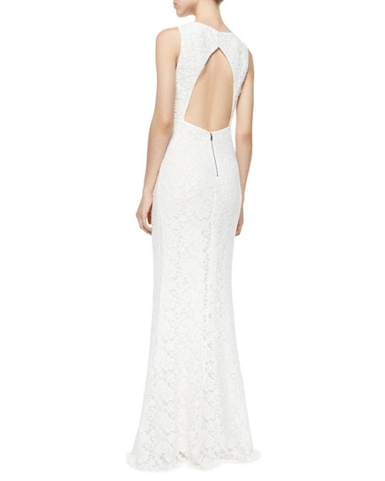 Alice Olivia Reduced Ivory Sachi Open Back Lace Gown Long Formal Dress Size 6 S 47 Off Retail
