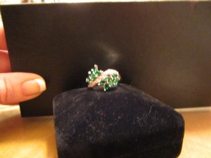 Reduced! Emerald Green Leafy Ring Spectacular!!!