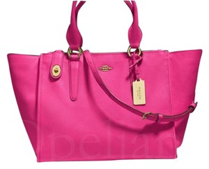 Coach F33995 Satchel in Pink ruby