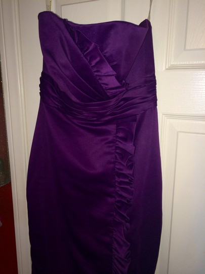 Forever Yours International Purple Strapless Form-fitting Knee Length Dress! Dress