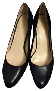 Cole Haan Leather Air Almond Toe Classic Black Pumps