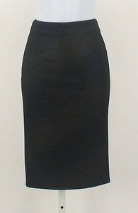 ASTR Metallic Elastic Waist Pencil B172 Skirt Black, Blue
