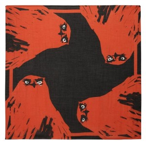 Alexander McQueen Alexander McQueen angry eagle square scarf