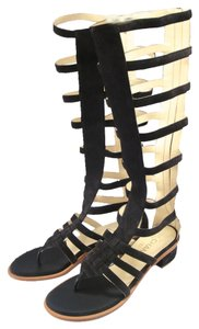 Chanel Gladiator Suede Strappy gray Sandals