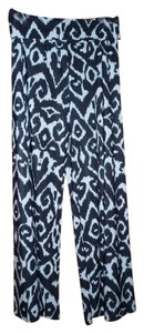 Superlive Pallazo Boho Graphic Wide Leg Pants Black and White