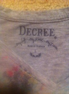 Decree T Shirt Gray