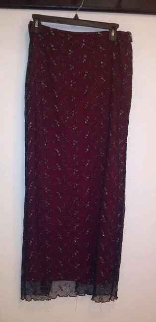 Item - Maroon and Black Skirt Size 12 (L, 32, 33)