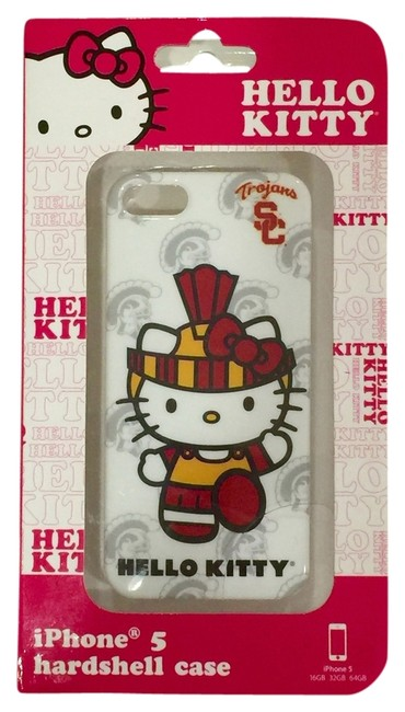Item - White/Red Usc Trojans Iphone 5/5s Case Tech Accessory