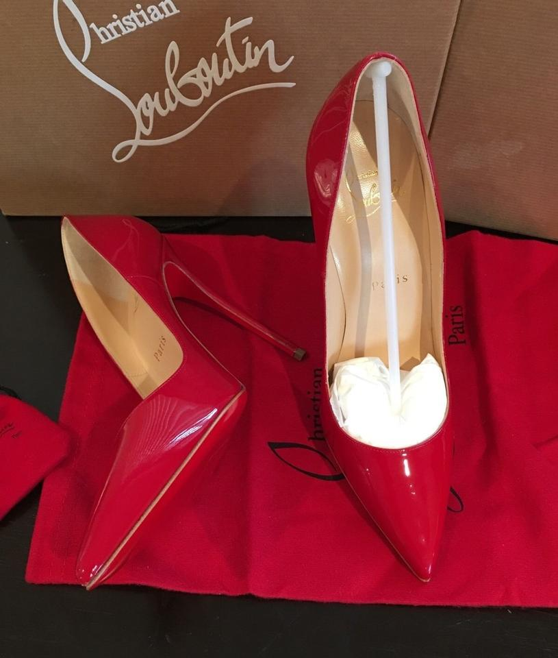 0a910b7d62c3 Christian Louboutin Red So Kate Oeillet Patent Leather Stiletto Heels 120mm Rubis  Pumps Size US 7 Regular (M