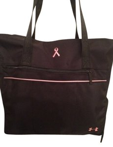 Under Armour Black With Pink Detail Travel Bag