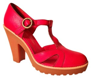 Marc by Marc Jacobs Mary Janes Red Platforms