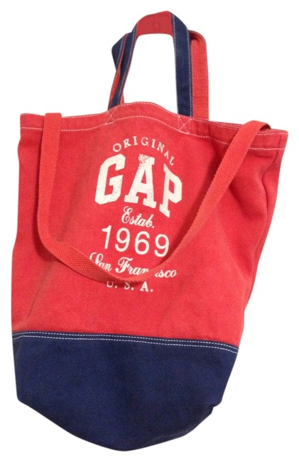 Item - 246242-01-1 Red/Blue/White Canvas Tote