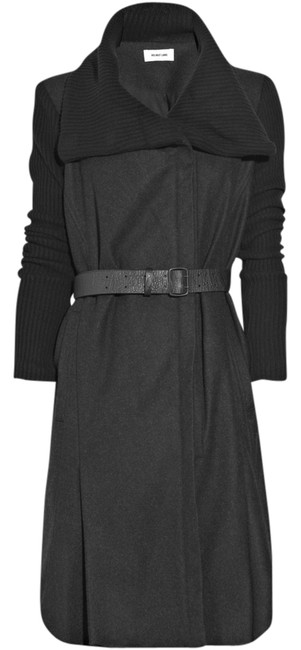 Preload https://item4.tradesy.com/images/helmut-lang-black-gray-wool-trench-coat-size-0-xs-723183-0-0.jpg?width=400&height=650