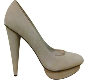 Steven by Steve Madden Luxurious Tall Rich Sand Suede Pumps