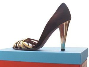 Jean-Michel Cazabat Peep Peep Toe D'orsay brown Pumps