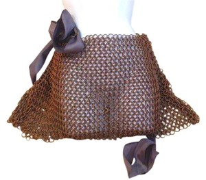 AgaTha CouTure Hand Made Mini Skirt copper, solid chainmail copper