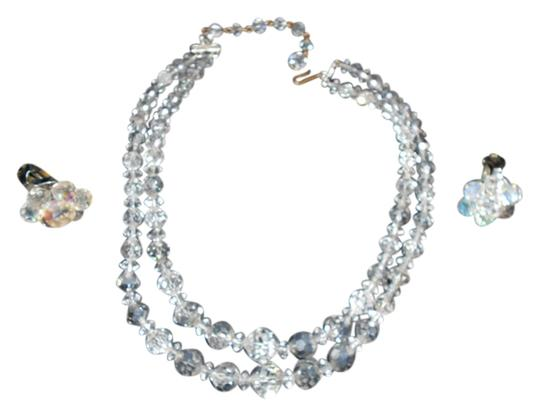 Preload https://img-static.tradesy.com/item/723489/clear-2-strand-graduated-ab-crystal-necklaceearrings-necklace-0-0-540-540.jpg