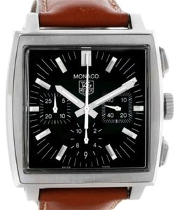 TAG Heuer Tag Heuer Monaco Automatic Brown Strap Mens Watch Cw2111