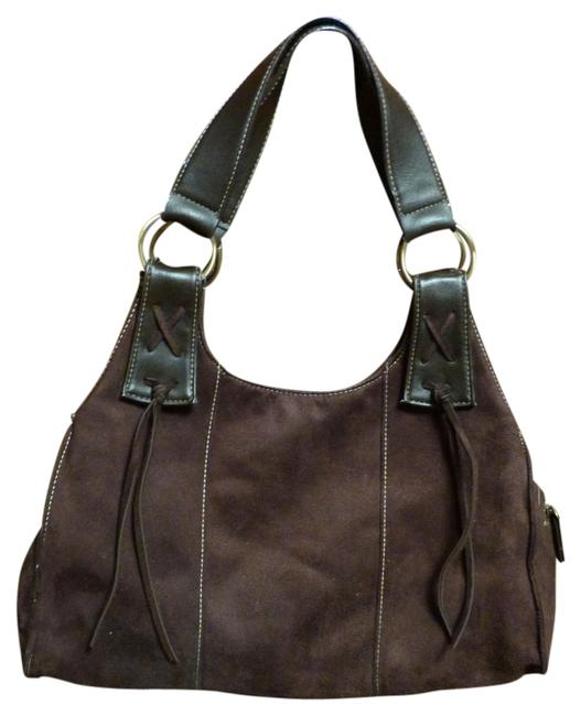 Item - Brown Faux Suede Leather Hobo Bag