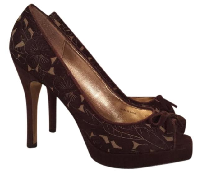 Item - Pony Hair Brown W/ Olive Green With Light Lazer Cut Pumps Size US 6 Regular (M, B)