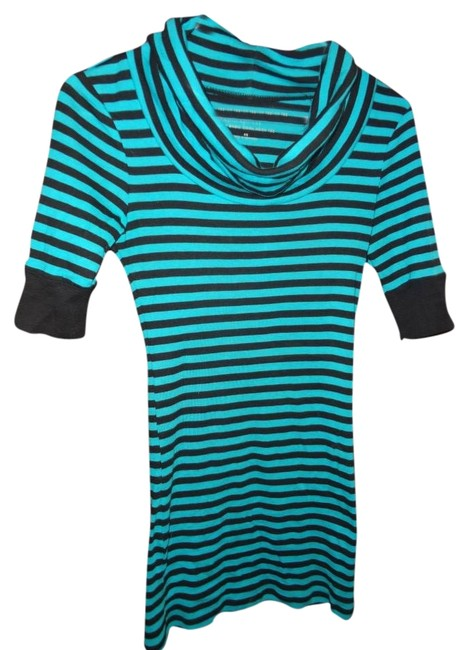 Express Top turquoise & black