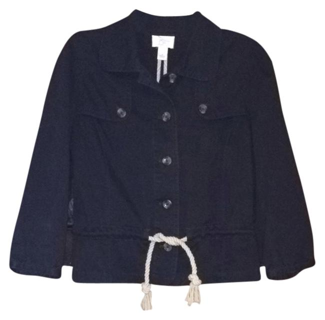 Ann Taylor LOFT Nautical Spring Jacket Business Casual Navy Blazer