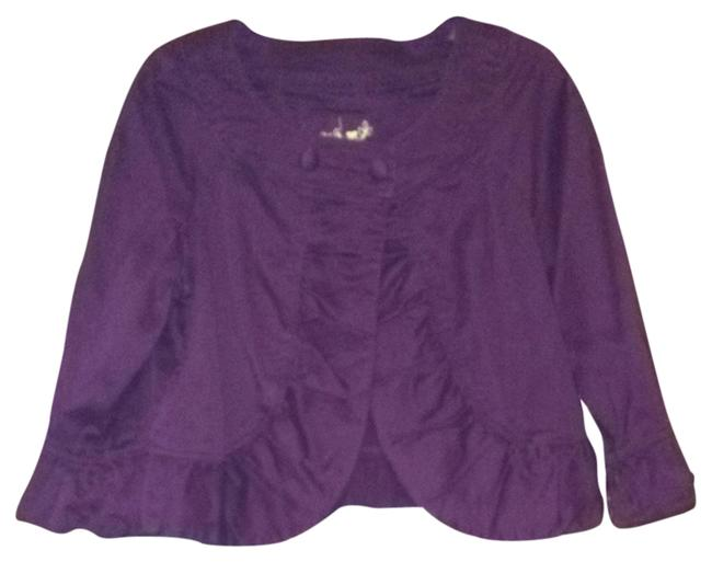 Preload https://item4.tradesy.com/images/live-a-little-eggplant-cropped-jacket-blazer-size-12-l-723763-0-0.jpg?width=400&height=650
