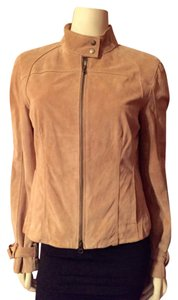 Context Tan Leather Jacket