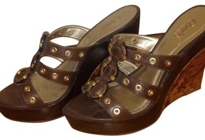 Carlos by Carlos Santana Brown Wedges