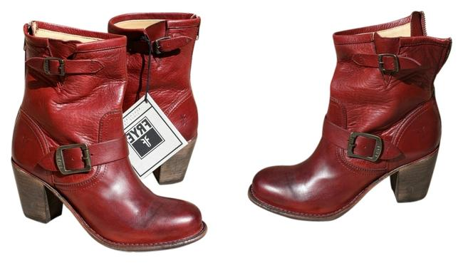 Item - Burnt Red New Karla Engineer In Leather - Boots/Booties Size US 7 Regular (M, B)