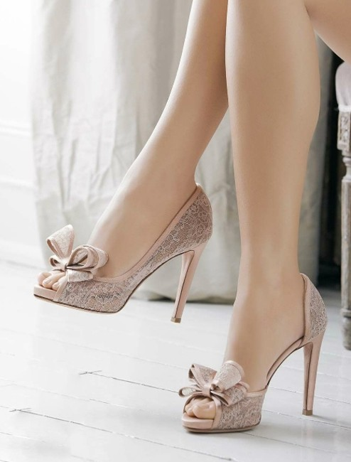 Item - Nude/Rose Couture Lace D'orsay Pumps Size US 9