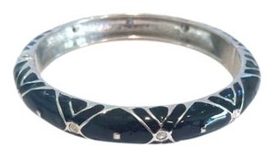 Vintage Black and Silver Hinged Cuff