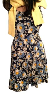 Speechless short dress Sunflower Sundress in Blues, Golds & White * Ruffled Skirt Vacation Floral Beach on Tradesy