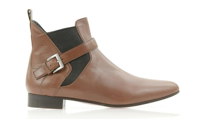 Item - Brown Chelsea Buckle Ankle Boots/Booties Size EU 40.5 (Approx. US 10.5) Regular (M, B)