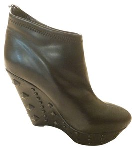 bebe Bootie Wedge Studded black Boots
