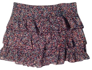 Express Mini Skirt Navy and multi floral