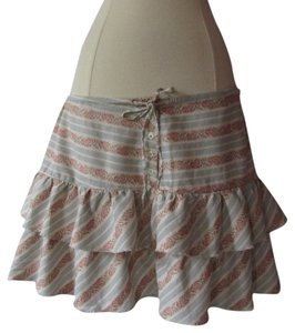 American Eagle Outfitters Mini Skirt Blue/Ivory