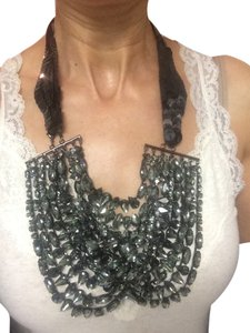 Vera Wang vera Wang Paillette draped Bib Necklace