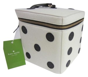 Kate Spade Wristlet in White Leather & Black Accents