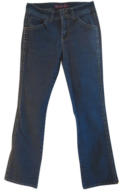 Item - Dark Blue Rinse With Flap Back Pockets 6 Straight Leg Jeans Size 29 (6, M)
